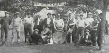 Large Antique Cabinet Photo 1890's H&F Allegheny, PA Club Camp Scene Great Photo