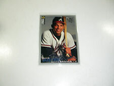 David Justice 1994 UD Collector's Choice Spec Edition Silver Signature card #67