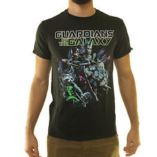 Marvel Guardians Of The Galaxy Crew Men's Black T-shirt NEW Size S