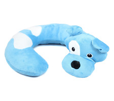 Animal Character Travel Neck Pillow Blue Dog Support Cushion U Shaped Head Rest