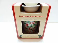 NIB Langley Tuscany Candle Electric Fragrance Bar Warmer JOY JOY JOY Red & Green
