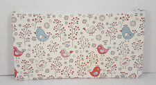 Ditsy Birds and Flowers Fabric Handmade Make Up Bag Pencil Case Storage Pouch