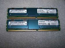 4GB Crucial / Micron DDR2 667MHz PC2-5300F Fully Buffered Server FBDIMM, 2x 2GB
