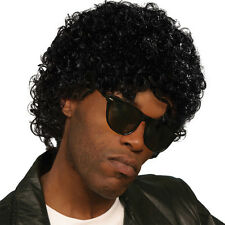 WET LOOK CURLY #SUPERSTAR WIG FANCY DRESS MICHAEL JACKSON OUTFIT ACCESSORY