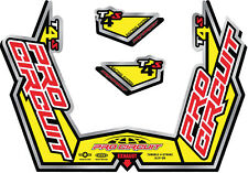 PRO CIRCUIT T-4S STICKER KIT REPLACEMENT MUFFLER STICKERS DC09T4S