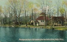 SILVER LAKE OH – Menagerie Cages, Aquarium and Log Cabin - 1910