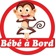 Decal Sticker child Baby to bord Monkey ref 3574 3574