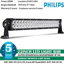 22Inch 280W LED Light Bar SPOT FLOOD COMBO Offroad  Truck Boat ATV 4WD VS 3Rows