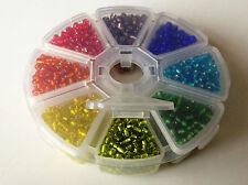 Bille de roue-taille 6/0 (env. 4mm) argent-doublé perles de rocaille-starter pack/cadeau