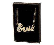 """Name Necklace """"EVIE"""" - 18ct Gold Plated - Swarovski Elements - Stylish Wedding"""