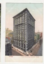 Chicago Tribune Building Dearborn Street Vintage Postcard 480a