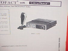 1978 CRAIG CB RADIO SERVICE SHOP MANUAL MODEL L102
