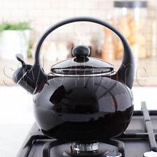 Esmalte de acero inoxidable Silbando Hervidor 2.2L eléctrica quemadores de gas stove Top Brown