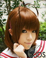 Clannad FURUKAWA NAGISA Cosplay wig Costume Brown colour