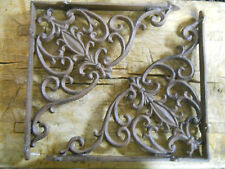 4 Cast Iron Antique VICTORIAN Style Brackets Garden Braces RUSTIC Shelf Bracket