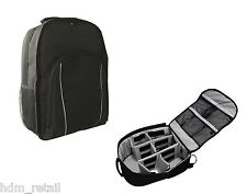 DSLR SLR Camera Backpack Rucksack Bag Case + RainCover For Nikon Sony Canon