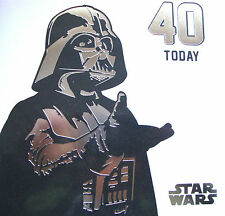 STAR WARS AGE 40 Today 40th Blank Birthday Card No Message