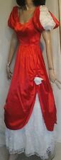 Red Satin Southern Bell Ball Cascading  Sweetheart Nadine Dress Gown 7