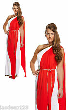 Womens Roman Ladies Greek Goddess Toga Fancy Dress Costume Ancient Hen Night Do