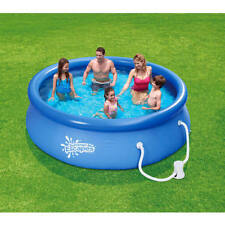 """Summer Escapes 10' x 30"""" Quick Set Round Above Ground Swimming Pool with Filter"""