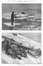 CANADA Franklin Search Expedition Scenes of the Route - Antique Print 1881
