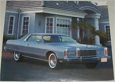 1978 Mercury Marquis 2 dr ht car print (blue)