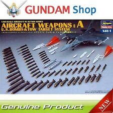 HASEGAWA Aircraft Weapons A U.S. Bombs & Tow Target System 1/48 X48-1 36001 JAP