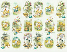 Ricepaper for Decoupage Decopatch Scrapbook Craft Sheet Vintage Happy Easter S