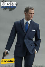 "Black Box Toys 1/6 Scale 12"" Guess Me Series Spectre 007 Action Figure Blue Suit"