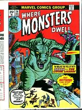 Where Monsters Dwell 28 COVER PROOF Jack Kirby Art 1974 Godzilla Droom Horror C.