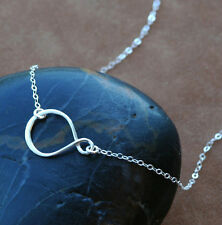 "U&C Sundance 925 Sterling Silver Infinity Eternity Symbol Chain Necklace 16""-18"""