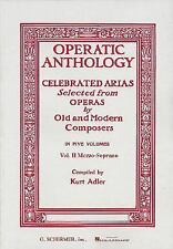 Operatic Anthology Volume 2 Mezzo-Soprano and Alto Celebrated Arias, Opras
