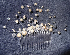 SWAROVSKI CRYSTAL, PEARL HAIRCOMB, $68, White, Ivory, Gold, Silver, NEW, Aust