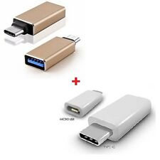 USB 3.1 Type C Micro USB 2.0 Charging Converter and Metal OTG USB 3.0 Macbook