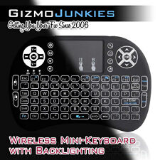 Wireless Mini Keyboard Touchpad - Raspberry Pi KODI Android PC Mac TV Backlit I8