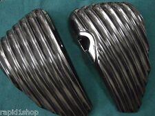 Harley Davidson Sportster Ribbed Side Panels Covers L + R 2004 & up Cafe Racer