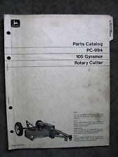John Deere 105 Gyramor Rotary Cutter Mower Parts catalog Manual ORIGINAL