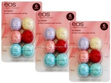 18x Visibly Soft & ORGANIC eos Lip Balm Assorted Vanilla Coconut Blackberry Mint