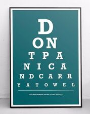 Hitchikers Guide to the Galaxy poster - Eye test in a choice of colours (HHGTG)