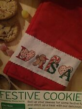 Christmas Festive Cookie ABC Cross Stitch Chart