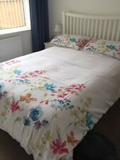 Next Pink Floral King Size Bedding Duvet Cover & Pillowcases