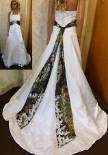New Arrival Halter Plus Size Camo Wedding Dresses 2015 Corset Lace Bridal Gowns