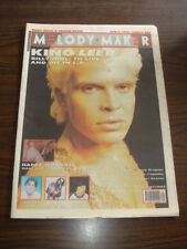 MELODY MAKER 1990 AUGUST 4 BILLY IDOL HAPPY MONDAYS SOUP DRAGONS PREFAB SPROUT
