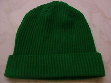 Made in Scotland Beautiful  Lambs wool  beanie hat  Christmas  Green