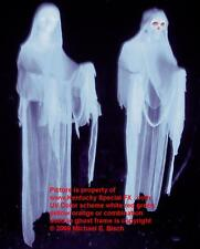 Real White Halloween Hanging Ghost Decoration Blacklight Reactive Floating Prop
