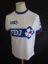 Maillot de cyclisme vintage La Française des Jeux Blanc Taille M