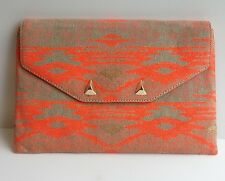 New STELLA & DOT Chelsea City Slim Clutch - Aztec Coral