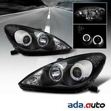 2002 2003 Lexus ES300/2004-2006 ES330 [CCFL Halo] Projector Black Headlights Set
