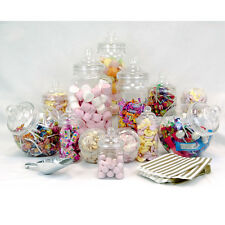 13x Vintage Jars Candy Buffet Sweet Shop Wedding Kids Kit Scoop Gold Bags