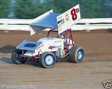 DOUG WOLFGANG #8D DP MOTORSPORTS WoO SPRINT CAR 8X10 GLOSSY PHOTO #4